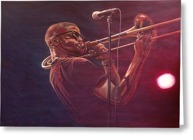 Trombone Shorty Greeting Card