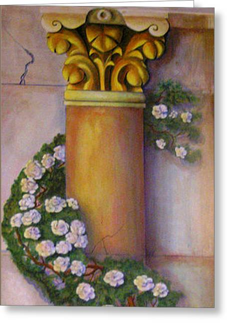 Trompe L'oeil  Column Greeting Card