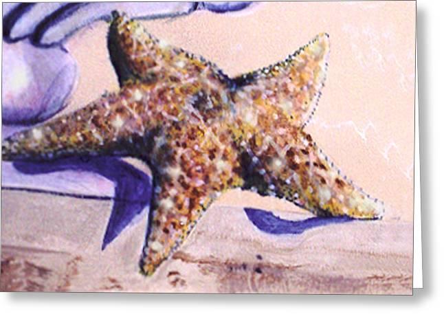 Trompe L'oeil Star Fish Greeting Card