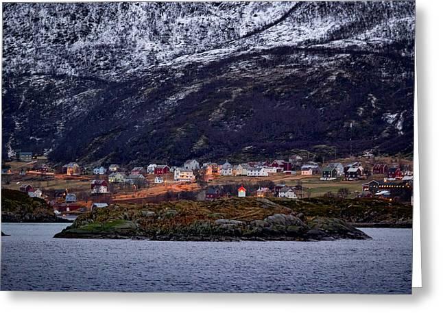 Tromso Lighthouse Greeting Card