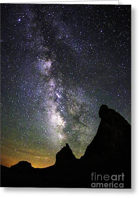 Trona Pinnacles Milky Way Greeting Card