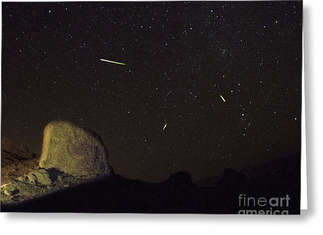 Trona Pinnacles Perseids Meteor Shower Greeting Card