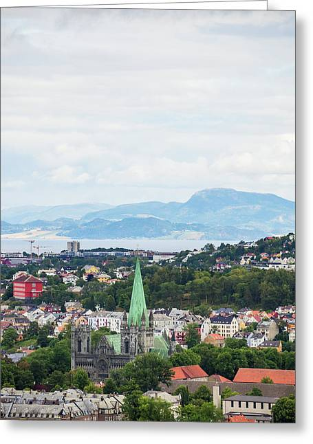 Trondheim, Norway Cityscape Greeting Card