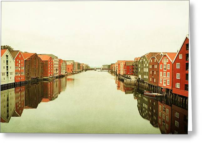 Trondheim On A Rainy Day Greeting Card