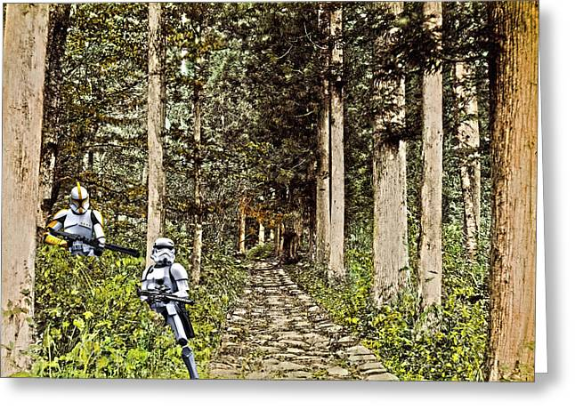 Troopers On The Planet Greeting Card