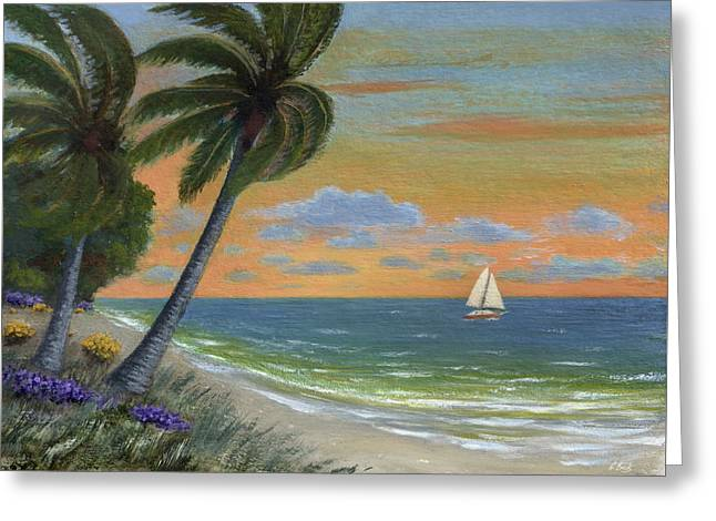 Greeting Card featuring the painting Tropic Breeze by Gordon Beck