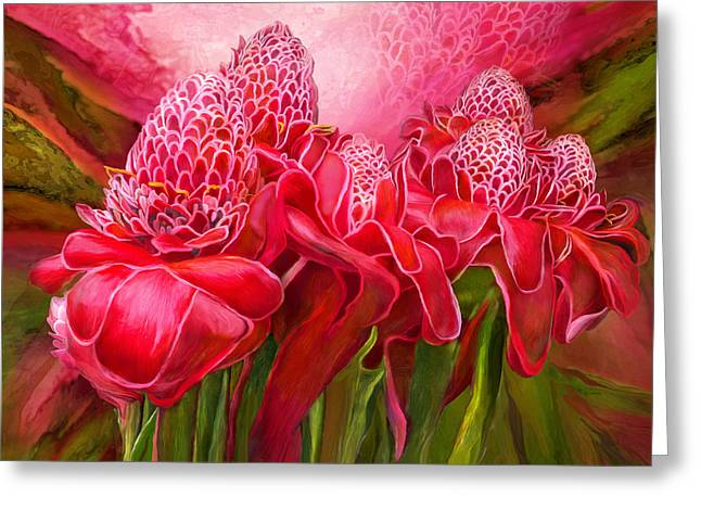 Tropic Garden - Torch Ginger Greeting Card