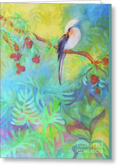 Tropical Afternoon Greeting Card by Sharon Nelson-Bianco