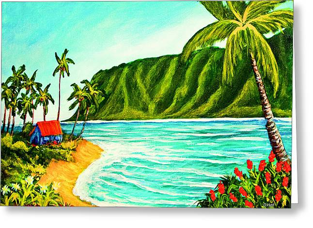 Tropical Beach #361 Greeting Card by Donald k Hall