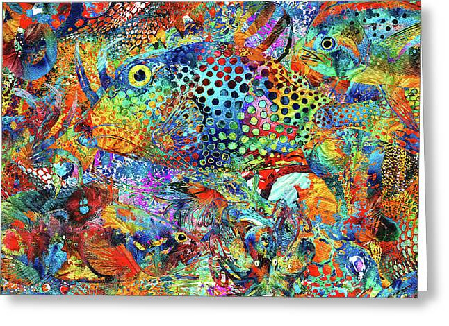 Tropical Beach Art - Under The Sea - Sharon Cummings Greeting Card