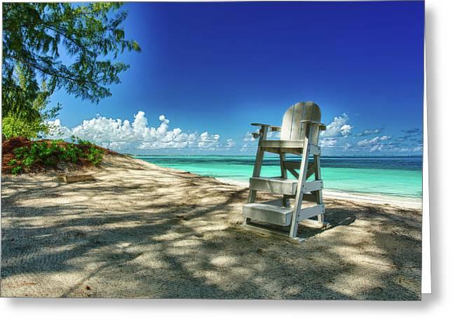 Tropical Beach Chair Greeting Card