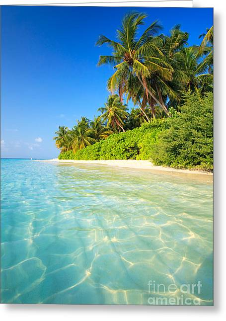 Tropical Beach - Maldives Greeting Card