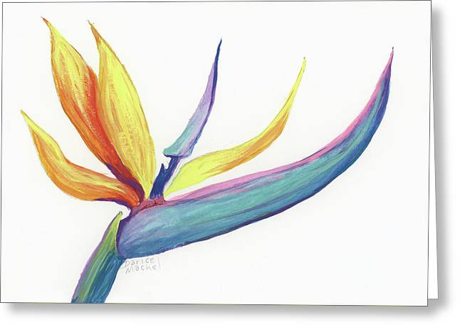 Greeting Card featuring the painting Tropical Bird Of Paradise by Darice Machel McGuire