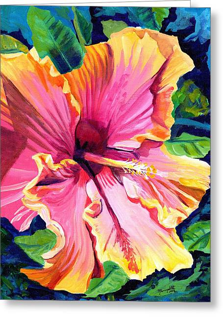 Tropical Bliss Hibiscus Greeting Card