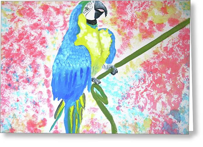 Greeting Card featuring the painting Tropical Bliss by Rebecca Wood