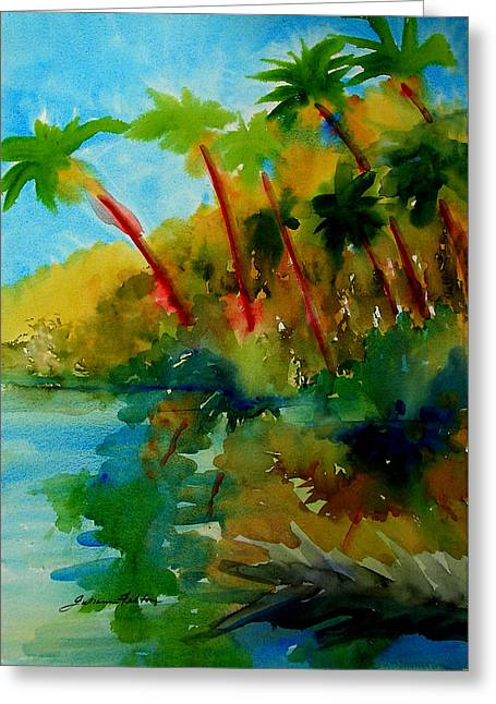 Tropical Canal Greeting Card