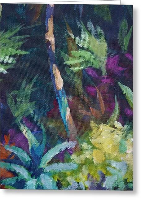 Tropical Charm Greeting Card by John Clark