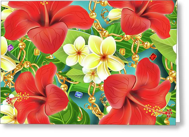 Tropical Color Party Greeting Card by Mark Ashkenazi