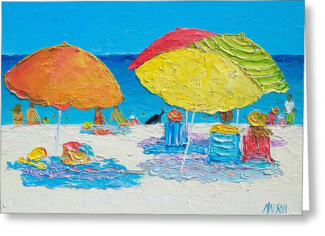 Tropical Colors - Beach Painting Greeting Card