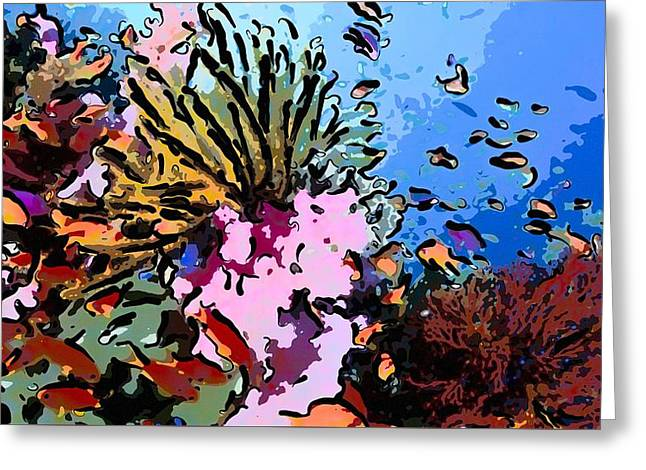 Tropical Coral Reef  2 Greeting Card