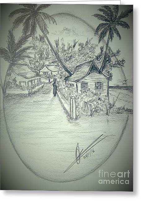 Tropical Country Living Greeting Card by Collin A Clarke