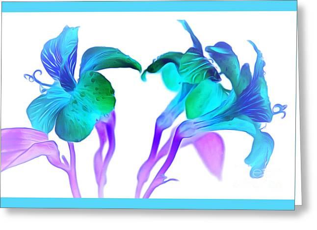 Tropical Daydream Greeting Card by Krissy Katsimbras