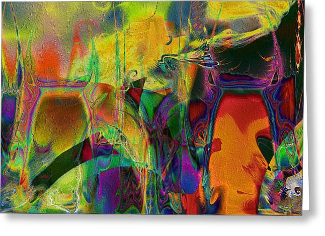 Greeting Card featuring the digital art Tropical Delight by Kiki Art