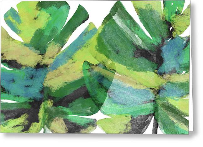 Greeting Card featuring the mixed media Tropical Dreams 1- Art By Linda Woods by Linda Woods