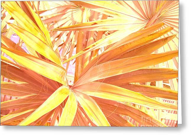 Tropical Dreams In Pastel Apricot Greeting Card by Susanne Van Hulst