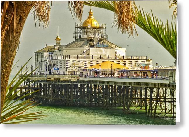 Tropical Eastbourne Greeting Card by Connie Handscomb