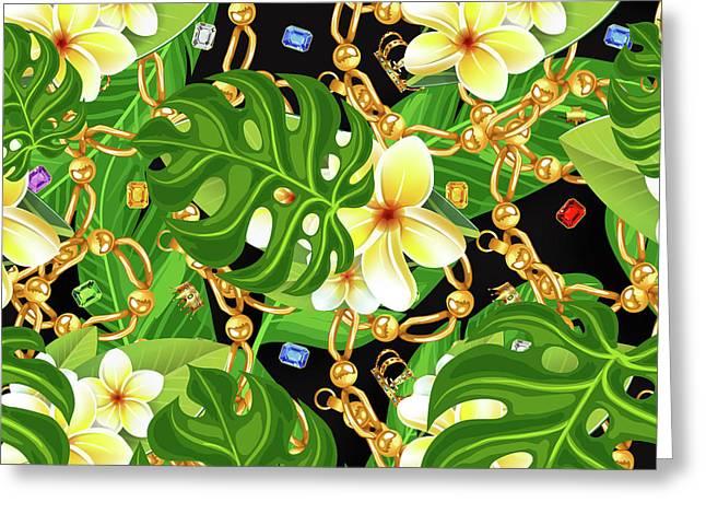 Tropical Elegant Greeting Card by Mark Ashkenazi