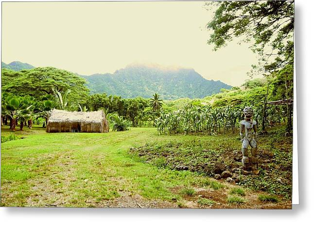 Tropical Farm Greeting Card by Halle Treanor