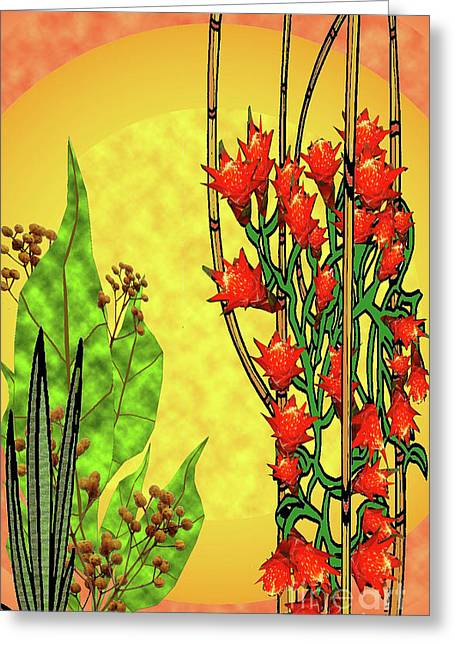 Tropical Firecracker Greeting Card by Charles Pulley