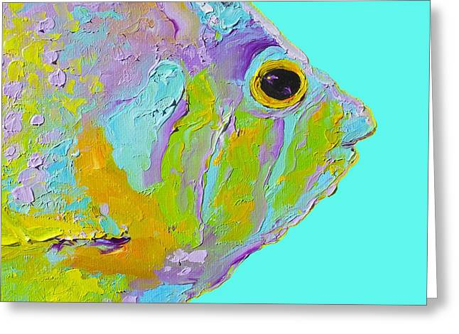 Tropical Fish For Coastal Decor Greeting Card
