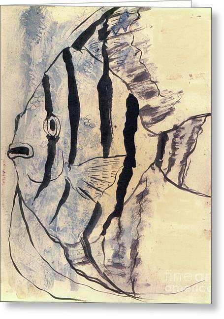 Tropical Fish Impressiion Greeting Card by Doris Blessington