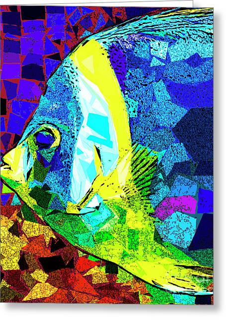 Greeting Card featuring the photograph Tropical Fish In Abstract 20170325v3 by Wingsdomain Art and Photography