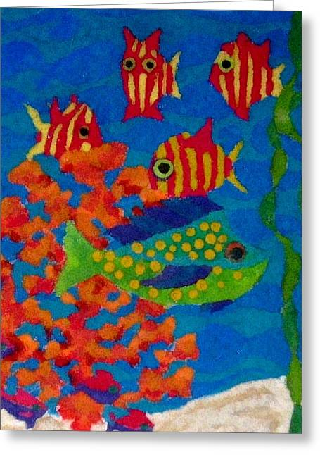 Tropical Fish Greeting Card by Jeanette Lindblad