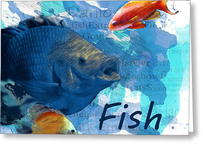 Tropical Fish Greeting Card by Methune Hively