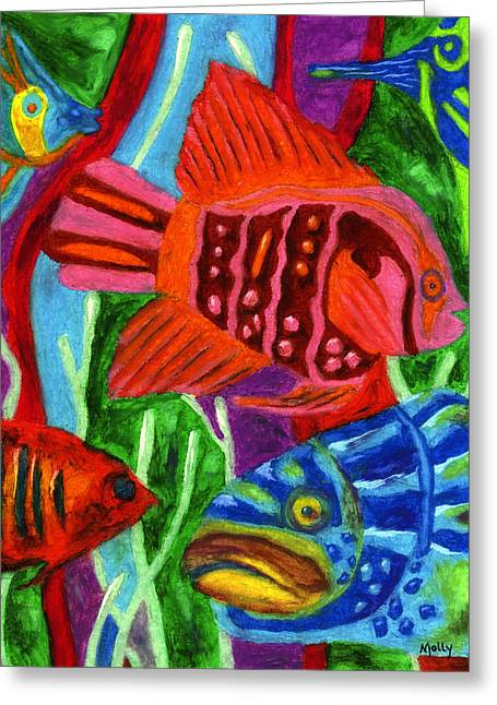 Tropical Fish Greeting Card by Molly Williams