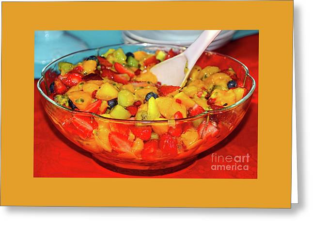 Tropical Fruit Salad By Kaye Menner Greeting Card
