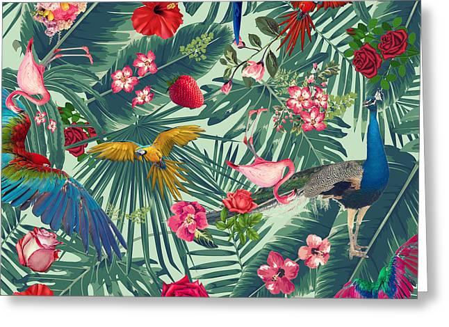 Tropical Fun Time  Greeting Card by Mark Ashkenazi