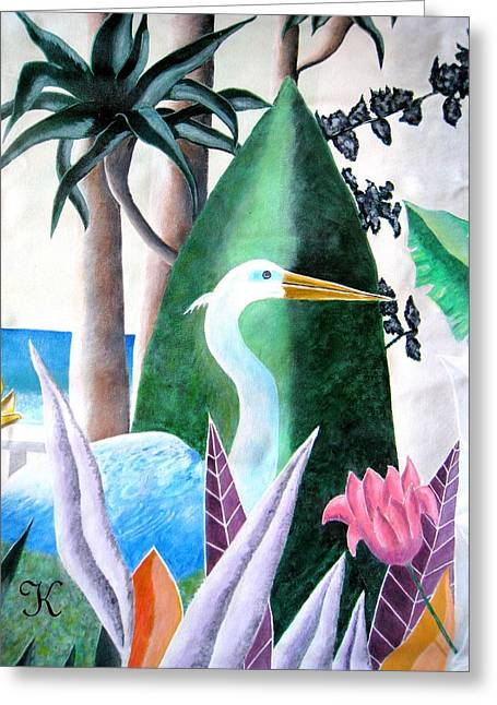 Tropical Goose Greeting Card by Roger Golden