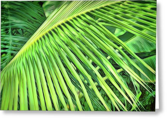 Tropical Green Greeting Card by Ann Powell