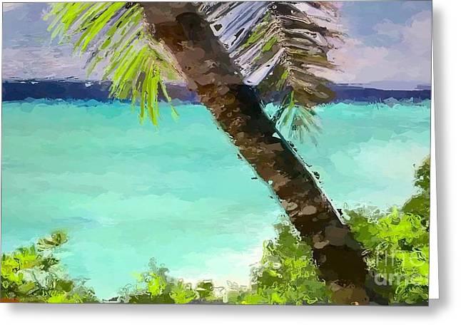 Tropical Hawaiian Palm Greeting Card