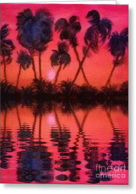 Tropical Heat Wave Greeting Card