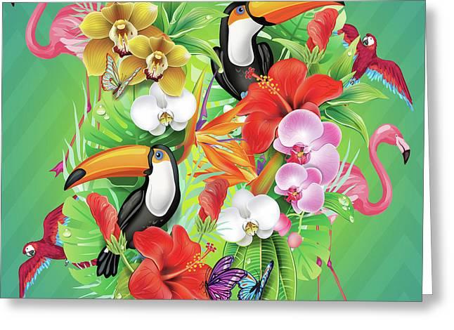 Tropical  Karnaval Greeting Card by Mark Ashkenazi