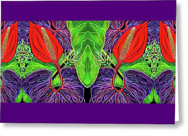 Tropical Kisses Greeting Card by Debbie Chamberlin