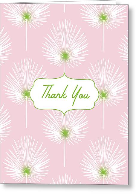 Tropical Leaf Thank You- Art By Linda Woods Greeting Card by Linda Woods