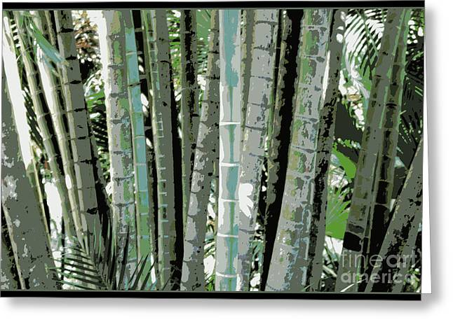 Tropical Lines  Greeting Card by Carol Groenen