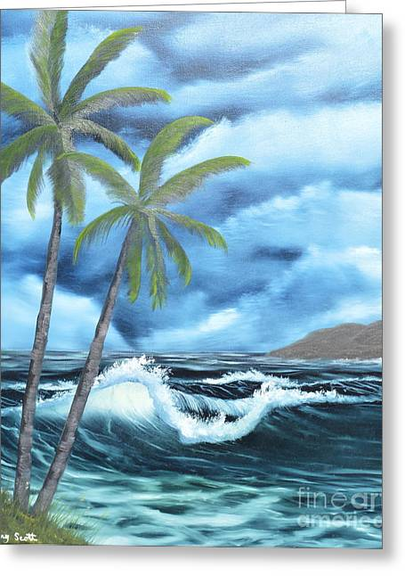 Greeting Card featuring the painting Tropical by Mary Scott